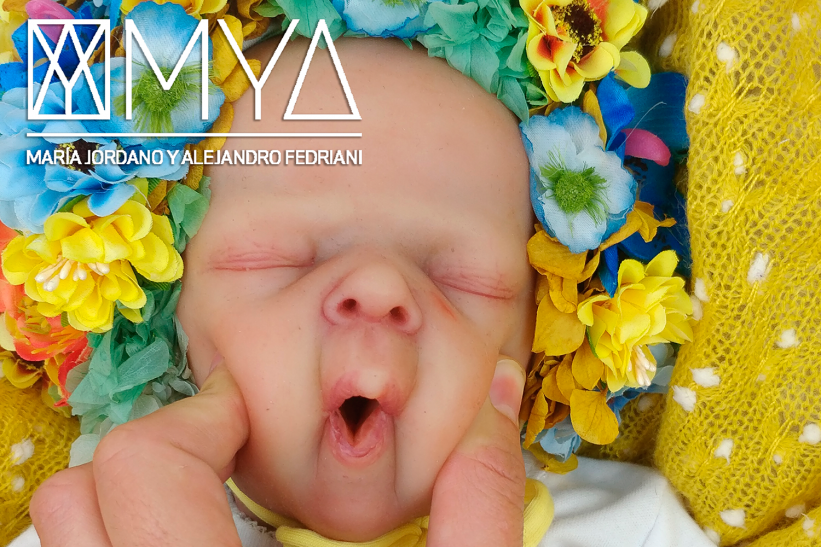 MAYA * Silicone baby with articulated fabric body