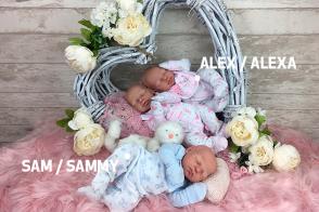 KIT de Silicona Cuddle baby (bebé abracitos) Prematuro Sam-Sammy o Alex-Alexa