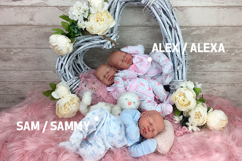 Silicone KIT of Cuddle baby Premature Sam-Sammy or Alex-Alexa