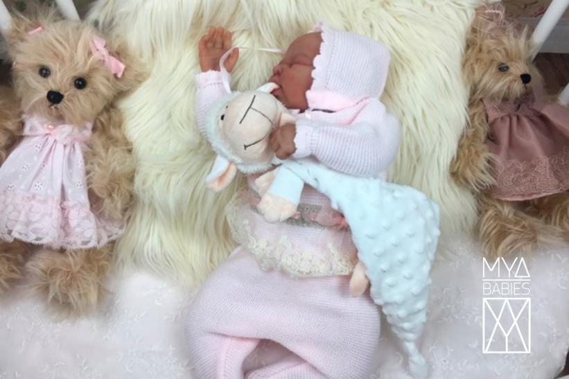 NICO NEWBORN SKIN * Silicone Baby with articulated fabric body